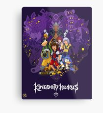 Kingdom Hearts Heart of Darkness Metal Print