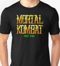 Press Start to Mortal Kombat by PixelRetro Unisex T-Shirt