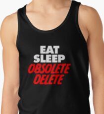 WOKEN MATT HARDY EAT SLEEP OBSOLETE DELETE Tank Top