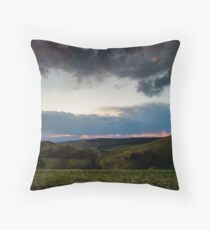 Sunset over the Kaiserstuhl, South-West Germany Throw Pillow