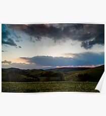 Sunset over the Kaiserstuhl, South-West Germany Poster
