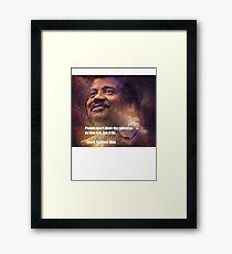 Black Science Man Framed Print