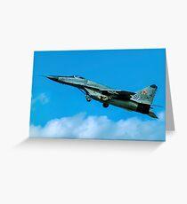 VPK/MAPO Mig-29SMT Fulcrum-F blue 917 Greeting Card