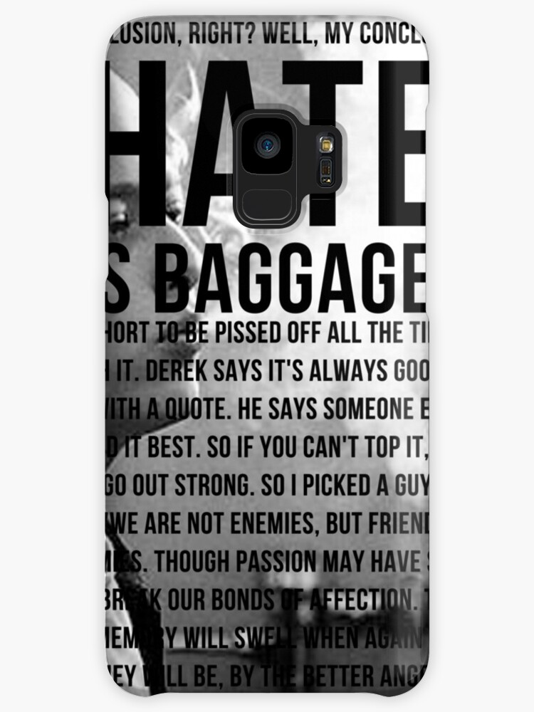 American History X Hate Is Baggage Full Quote Cases Skins For