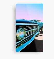 Parked Chrome Metal Print