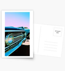 Parked Chrome Postcards