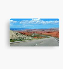 On The Winding Road Canvas Print