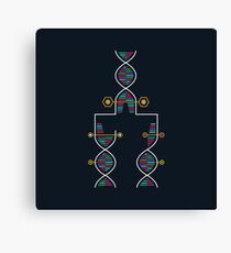 DNA - Infographic Canvas Print