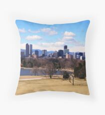 Downtown Denver in March Throw Pillow