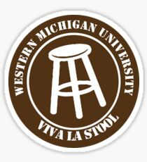 Western Michigan University Barstool Sticker