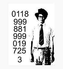 It crowd emergency number Photographic Print