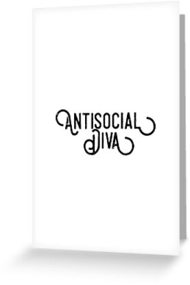 327317695bf4 Antisocial Diva Shirt Funny Introvert Slogan Awkward Apparel by arnaldog
