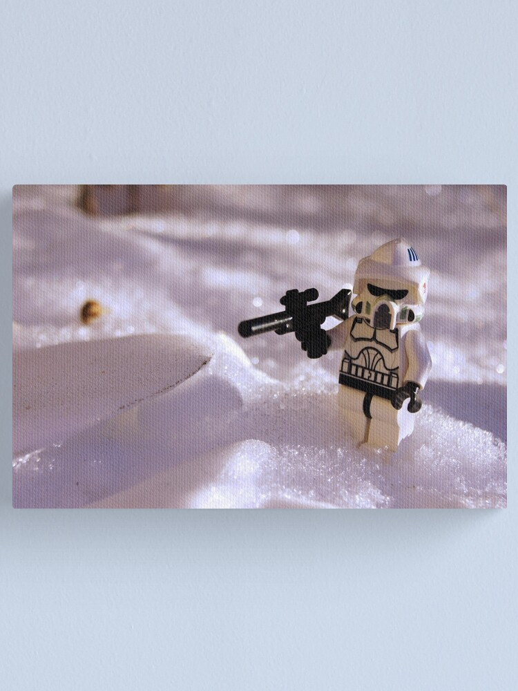 Alternate view of Snow Trooper Canvas Print