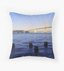 Bay Bridge in Late Afternoon Throw Pillow