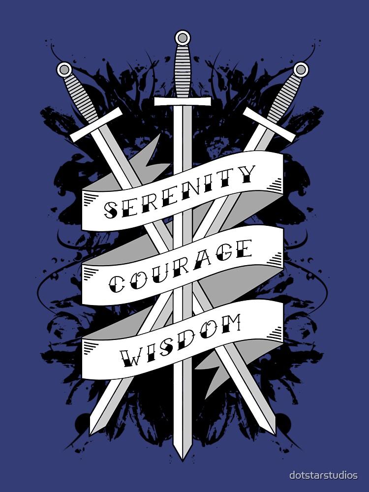 Serenity, Courage & Wisdom by dotstarstudios