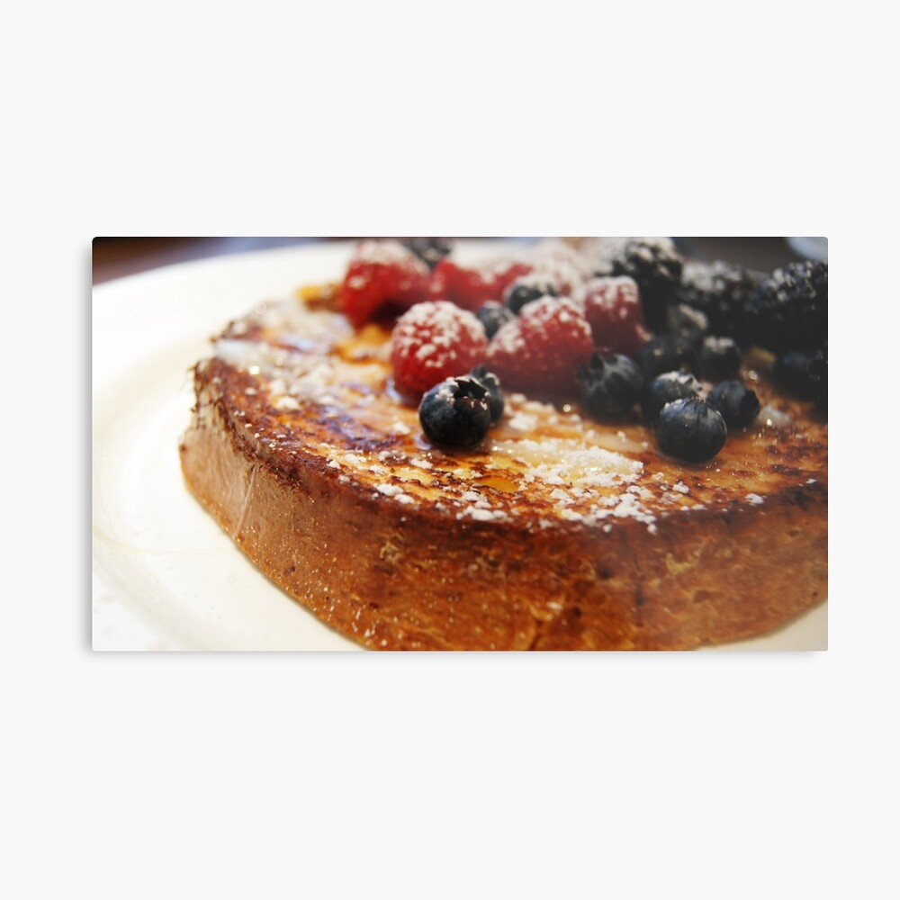 Brioche French Toast with Berries Metal Print