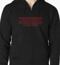 Swimmer Things Zipped Hoodie
