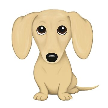 Cream Dachshund Cartoon Dog by ShortCoffee