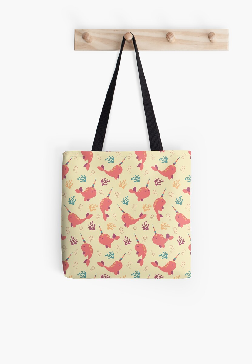 To the Window to the Narwhal - Coral & Cream by goddammitstacey