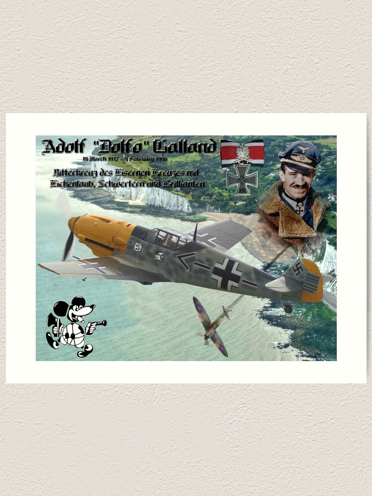 Adolf Galland over Dover | Art Print