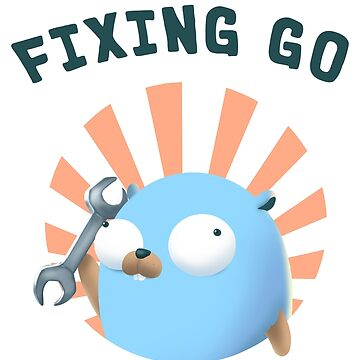 Golang Gopher Fixing Everything by clgtart
