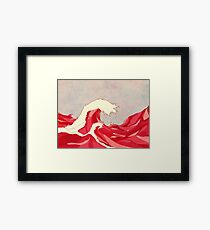 Cherry Waves Framed Print