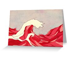Cherry Waves Greeting Card