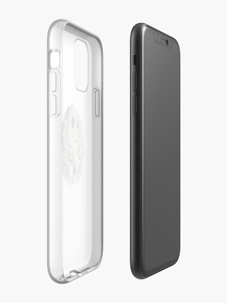 Coque iPhone «yin et yang doodle», par taperdart