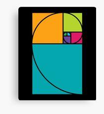 Golden Ratio Spiral - Math Geek Science and Canvas Print
