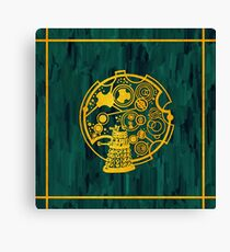 Exterminate! Gold Foil on Acrylic Canvas Print