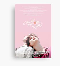 Call Me By Your Name Canvas Print