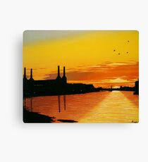 Power Station at Sunset Canvas Print