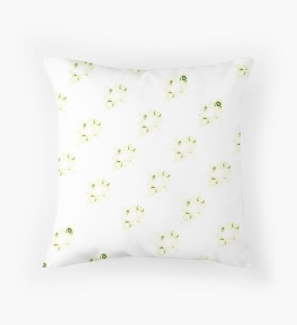 Cream canal flowers  Throw Pillow