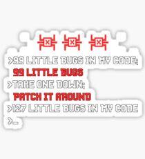 99 Little Bugs In My Code - Computer Programmer CLI Sticker