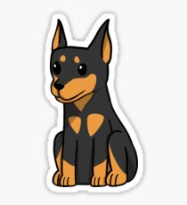 Miniature Pinscher Cute Cartoon Sticker