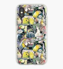 Vinilo o funda para iPhone Loros estilo comic