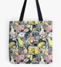 Parrots Comic Style Tote Bag