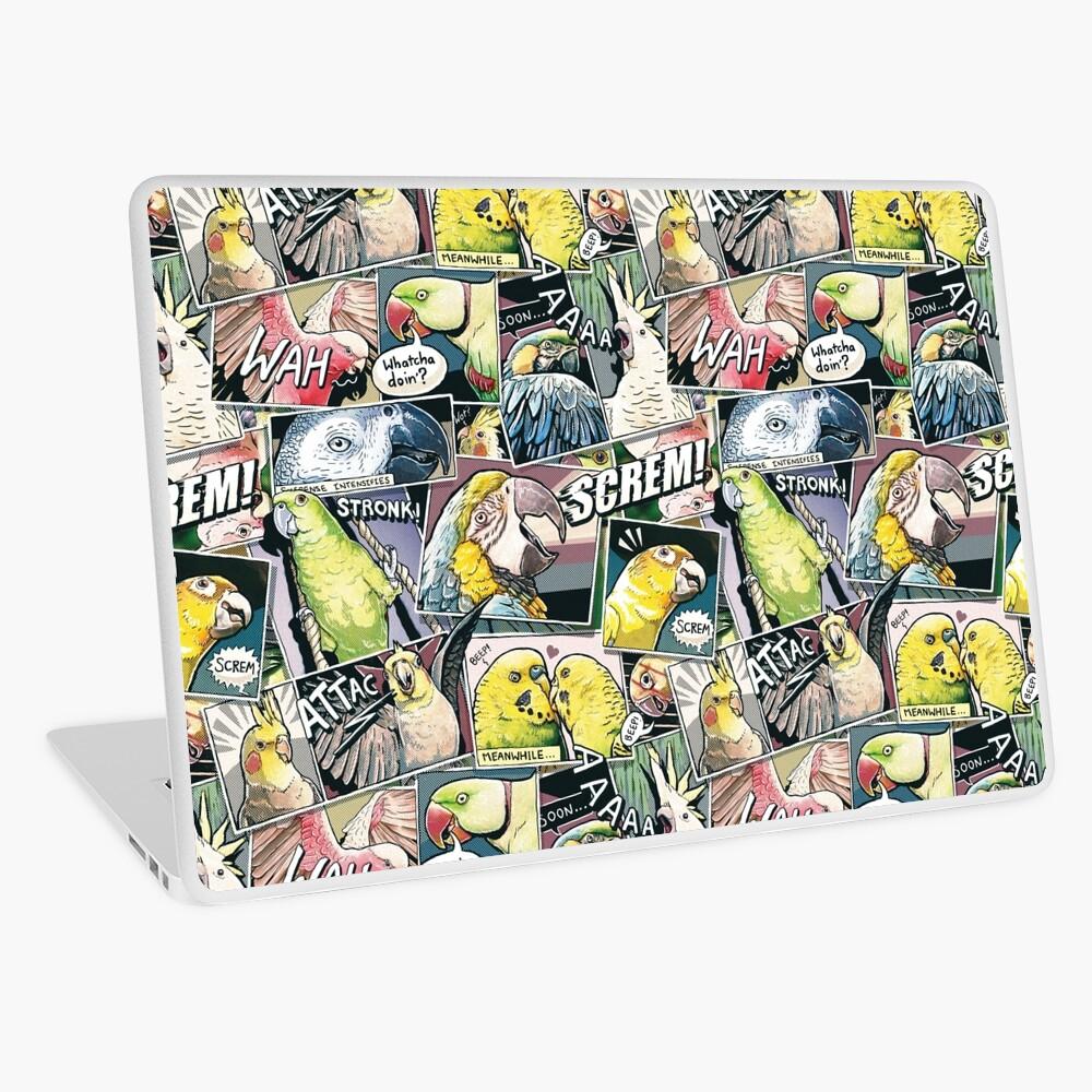 Parrots Comic Style Laptop Skin