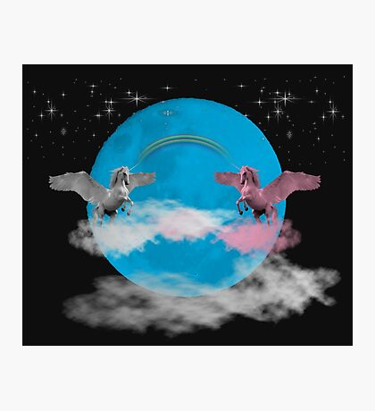 They come together on a Blue Moon Photographic Print
