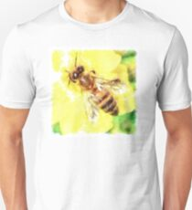 The Pollen Collector Honeybee Watercolor Unisex T-Shirt