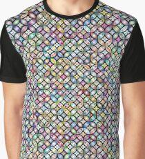 Prismatic Floral Design Graphic T-Shirt