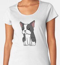 Boston Terrier Cute Cartoon Women's Premium T-Shirt