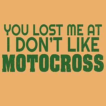 Funny Motocross Sweatshirt I Love Dirtbikes Racing MotoX by rainydaysstudio