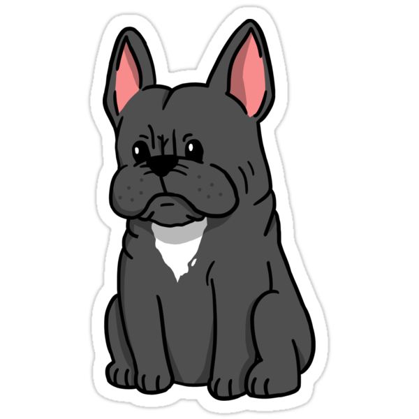 French Bulldog Cute Cartoon Stickers By Ilovepaws Redbubble