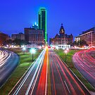 Dealey Plaza at Dawn - Dallas Texas Skyline by Gregory Ballos