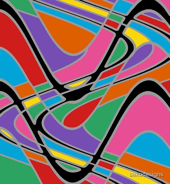 Retro Art - Vivid Colour #22 by sekodesigns