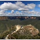Pulpit lookout panorama. Blue mountains by Alexey Dubrovin