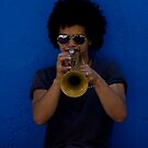 Trumpet Player by David Petranker
