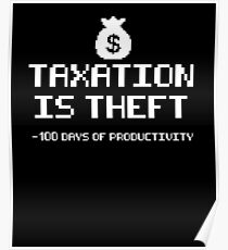 Taxation Is Theft Power Down Poster