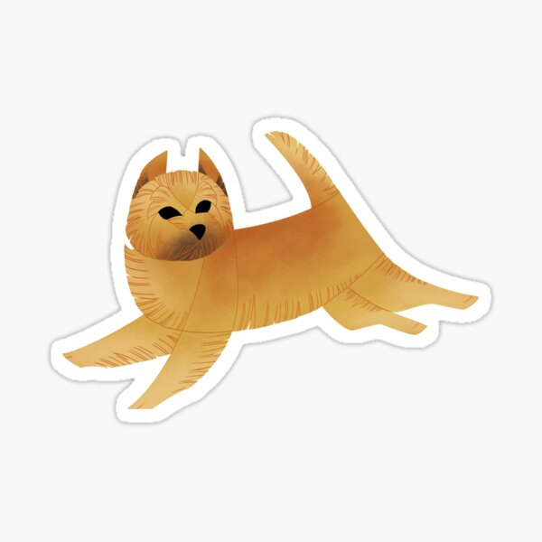 Geometric dogs - Cairn Terrier Sticker